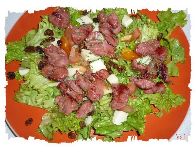 Salade gourmande aux gésiers