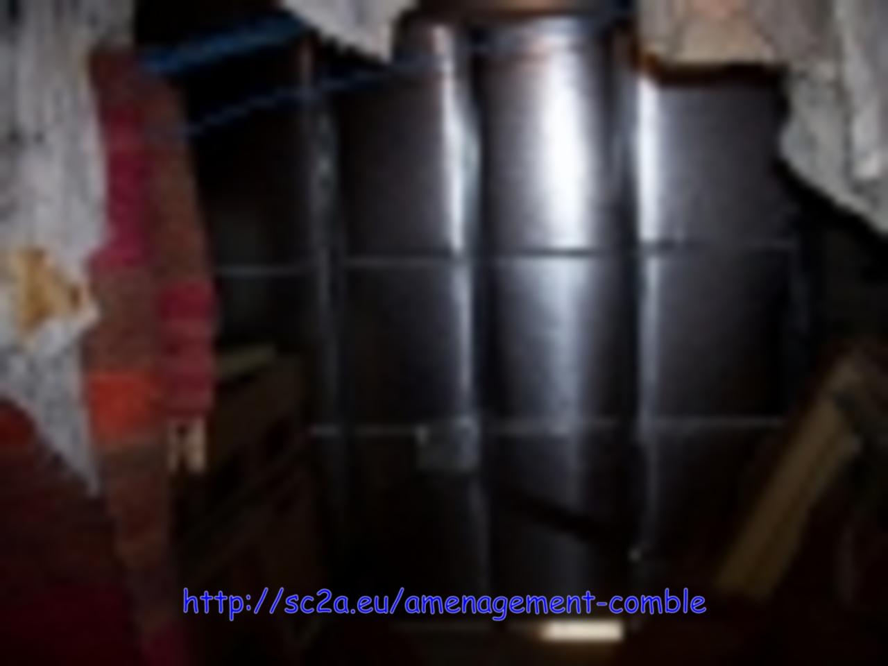 isolation sur porte de garage métallique