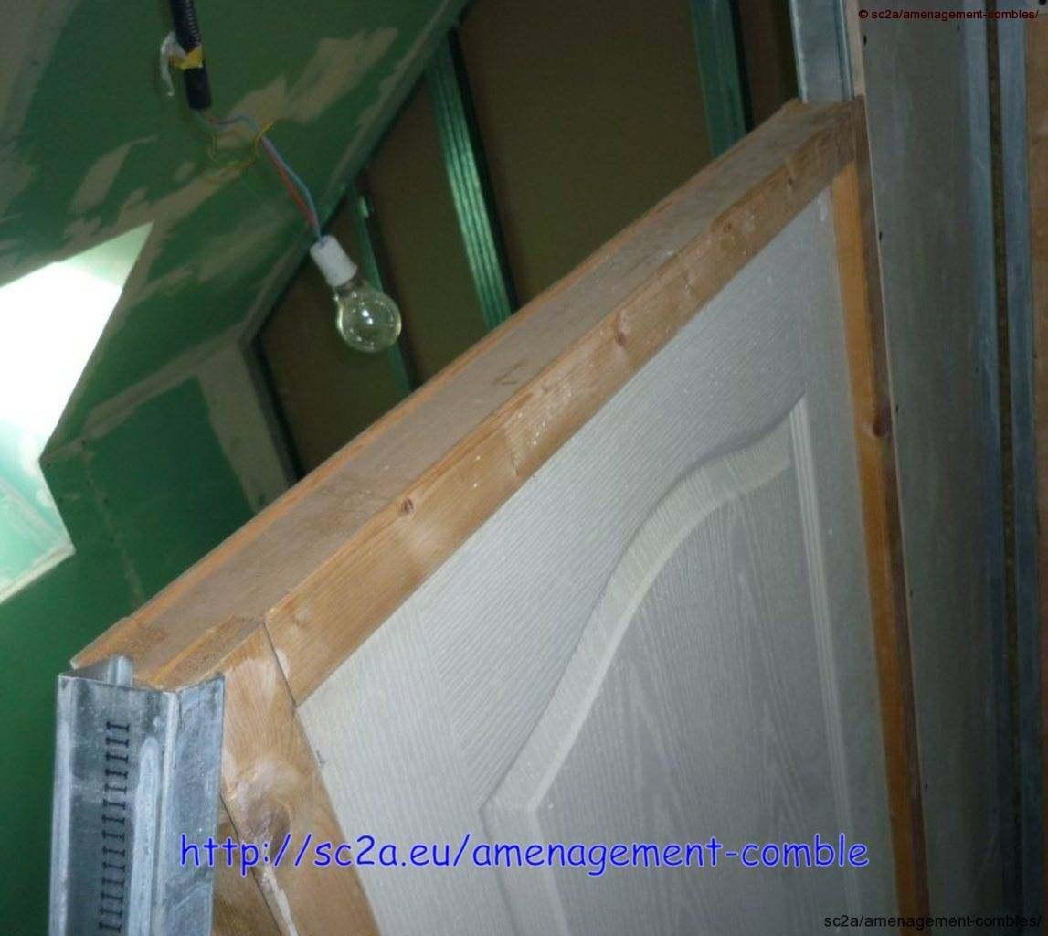 mise en place porte cloisons placoplatre 5