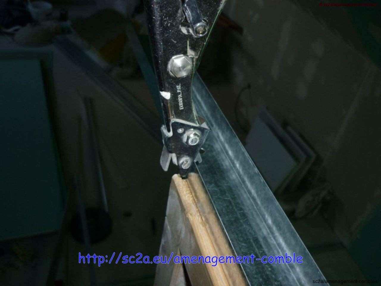 assemblage rails cloisons placo