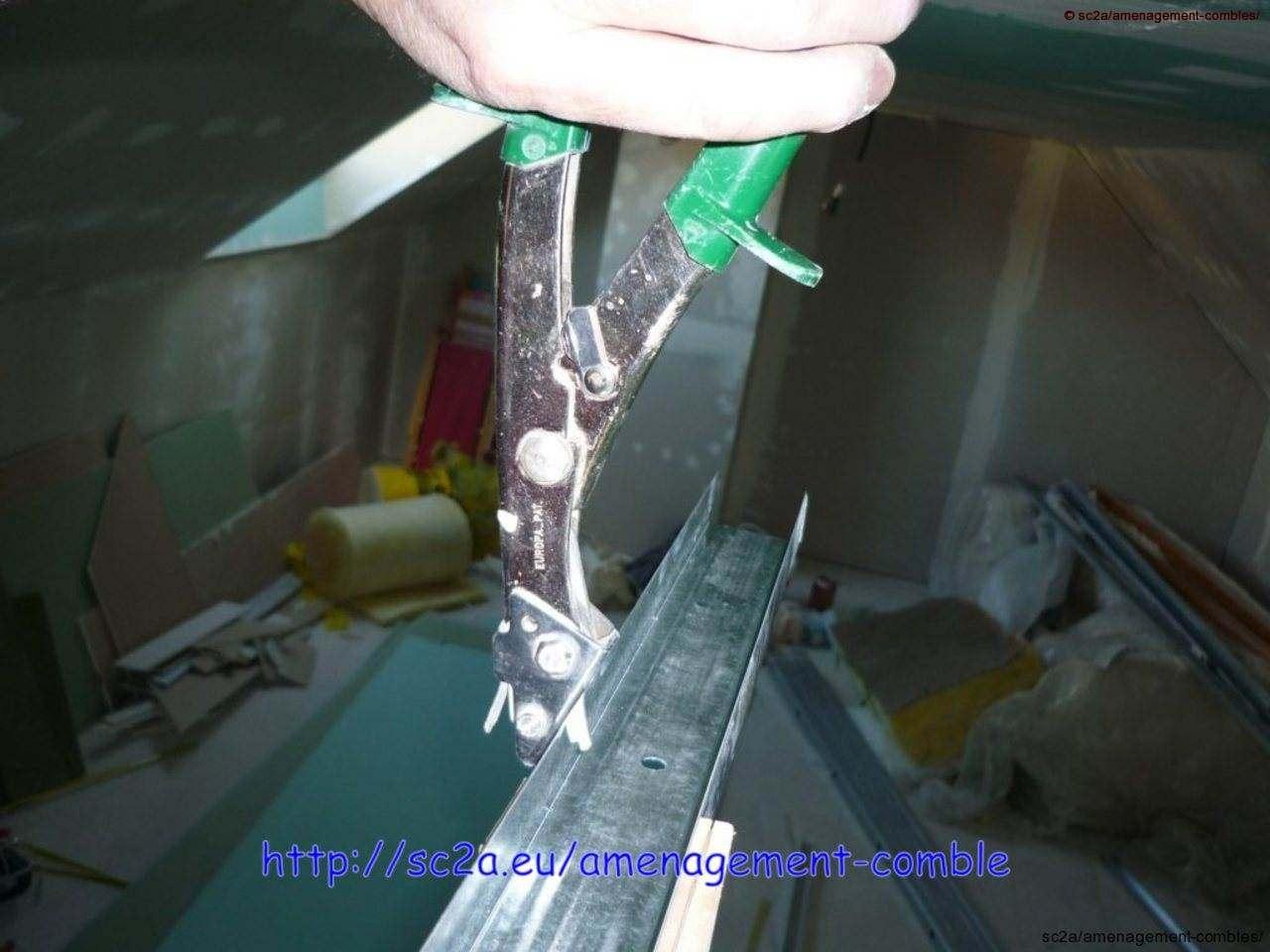 assemblage rails cloisons placoplatre