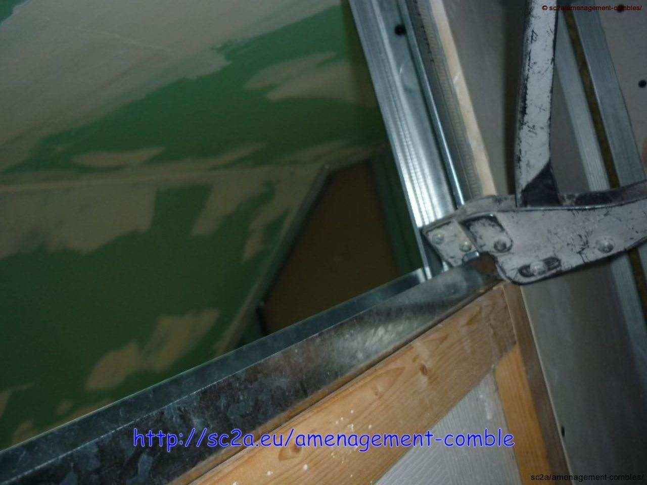 assemblage rails cloisons placoplatre 1