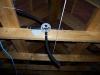 passage gaines électriques au plafond des combles 1