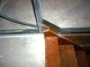 pose des montants et rails au niveau de l\'escalier