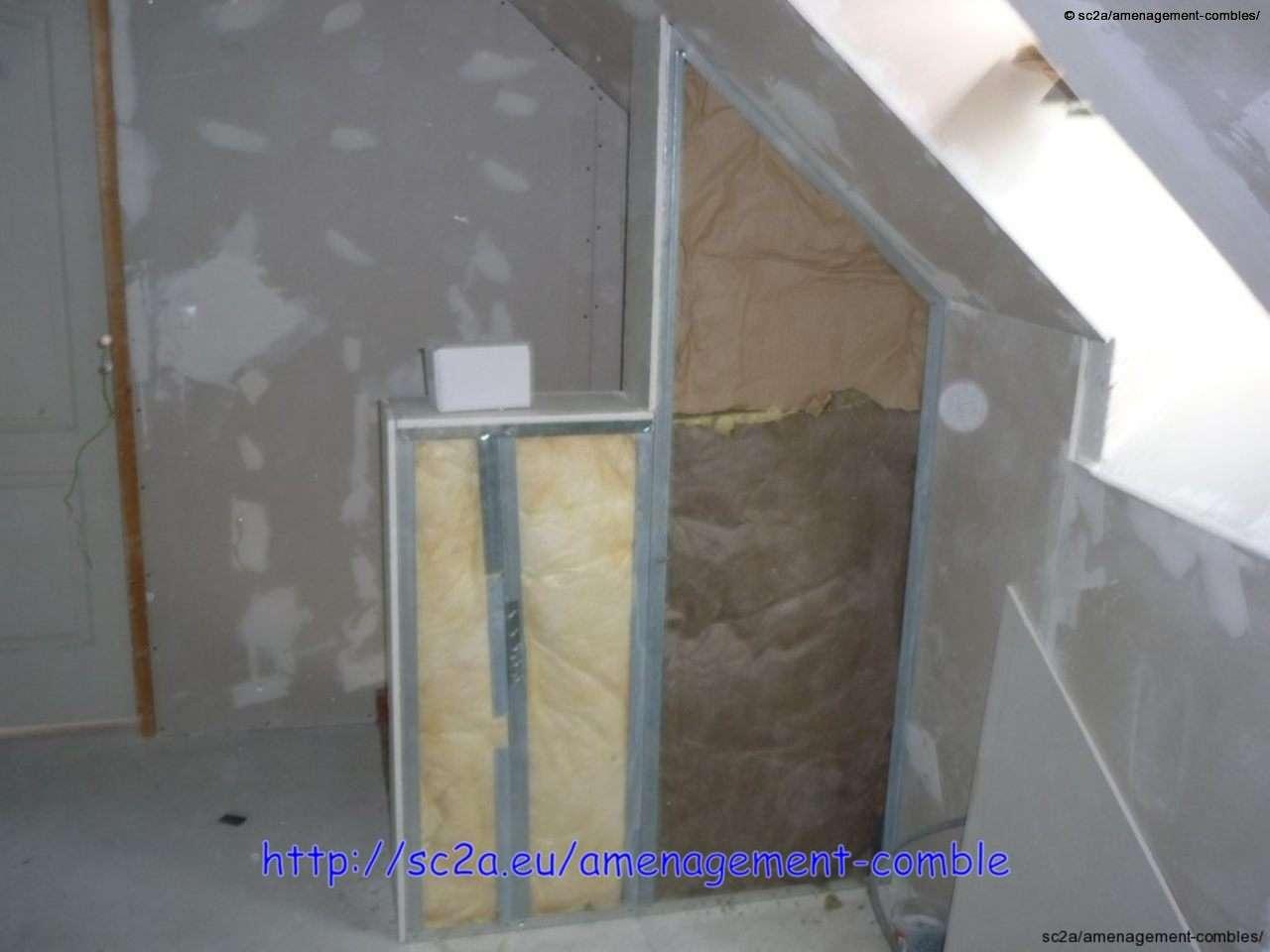 pose placoplatre mont e escaliers am nagement des combles. Black Bedroom Furniture Sets. Home Design Ideas