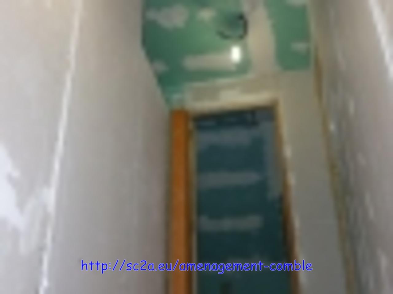 vue de la pose placoplatre - montée escalier