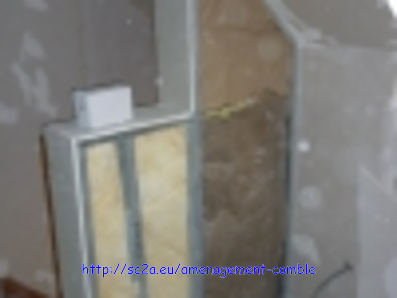 pose rail montant placoplatre - montée escalier 3