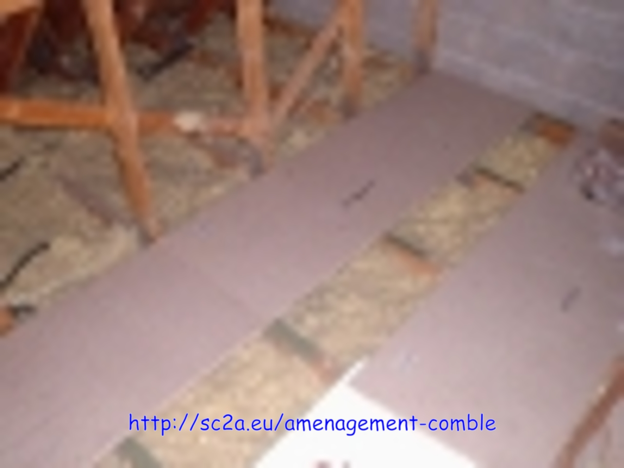 pose plancher bois combles 2