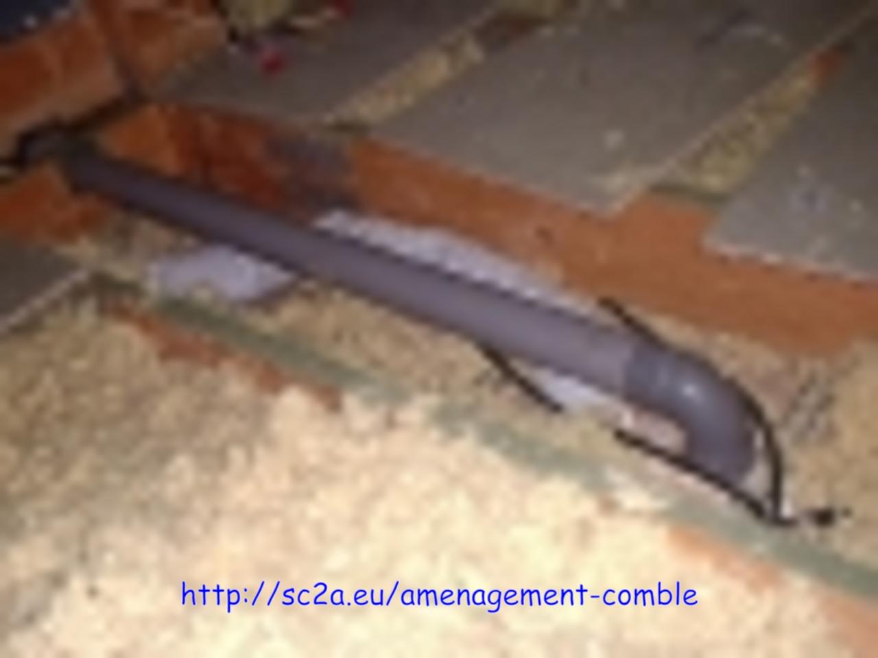 passage tuyau évacuation sous dalles plancher 1