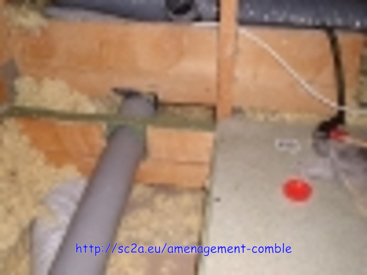 passage tuyau évacuation sous dalles plancher 2