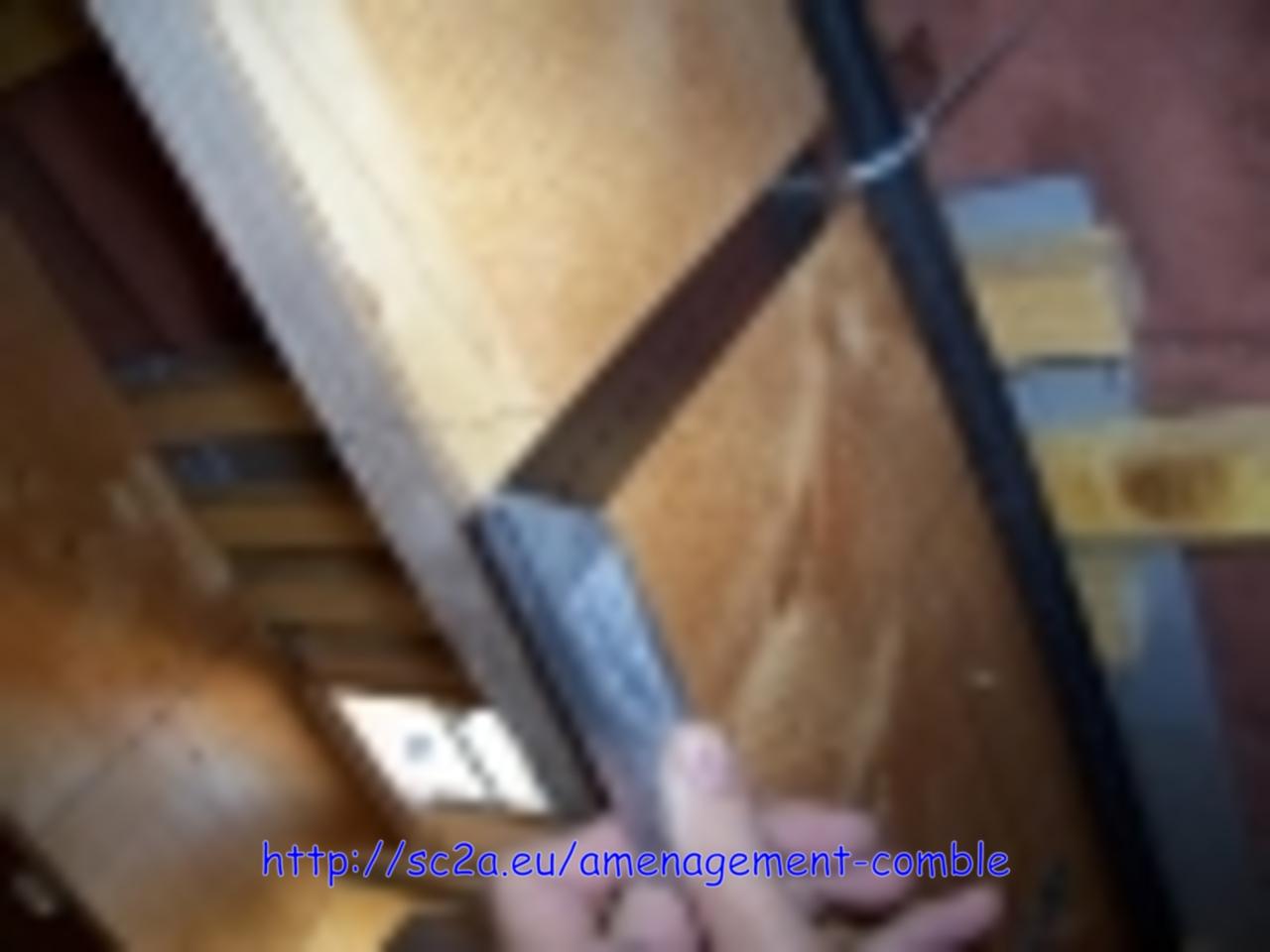 réaliser chevêtre fenetre de toit 1