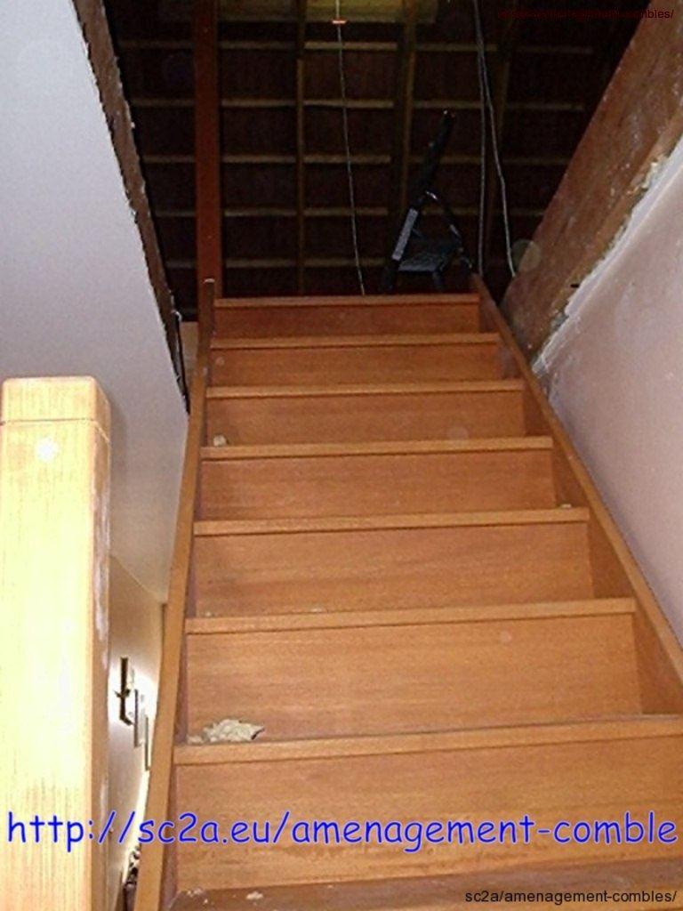 poser un escalier am nagement des combles. Black Bedroom Furniture Sets. Home Design Ideas