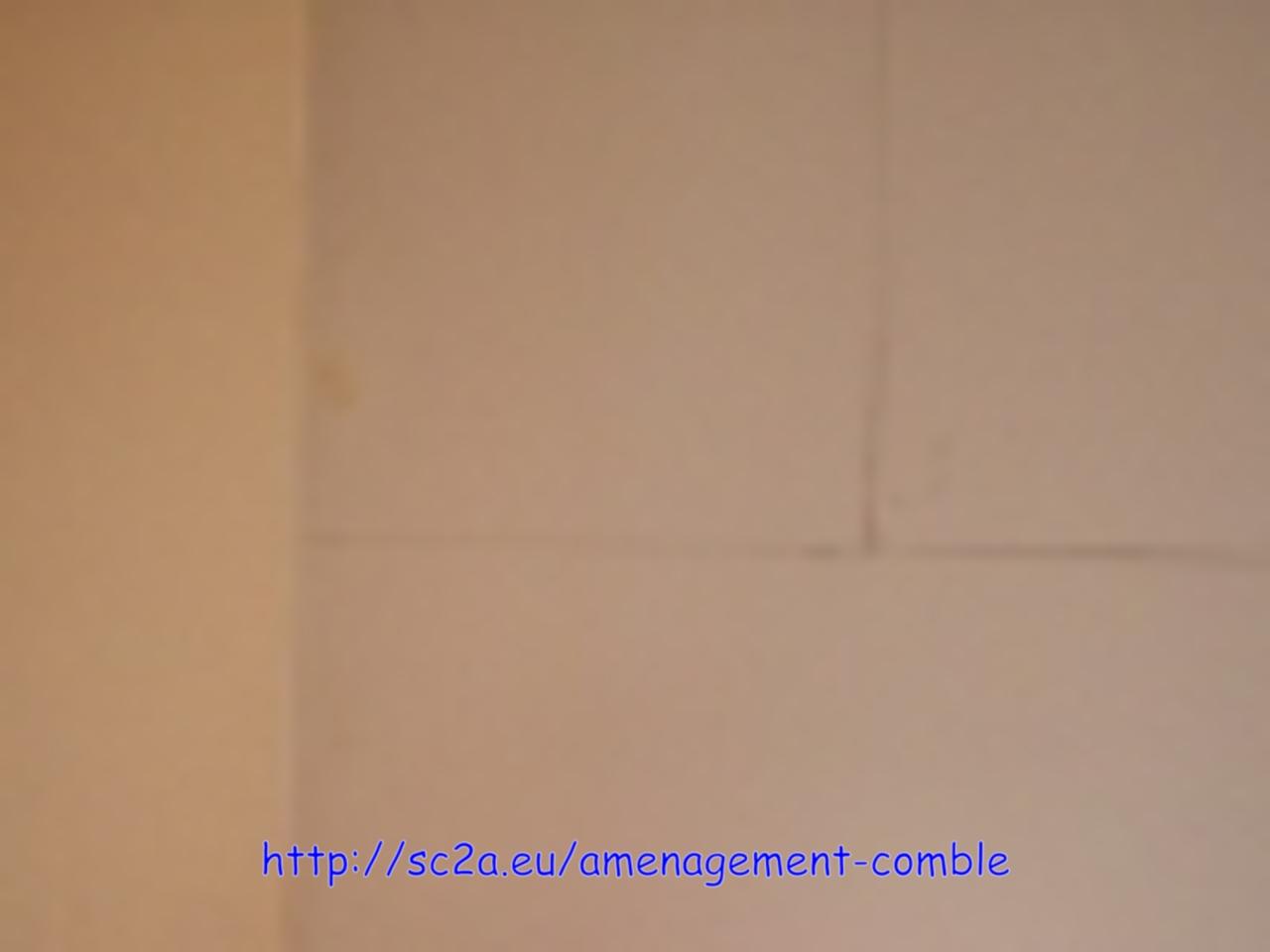 vue du plafond avant ouverture de la trémie 1