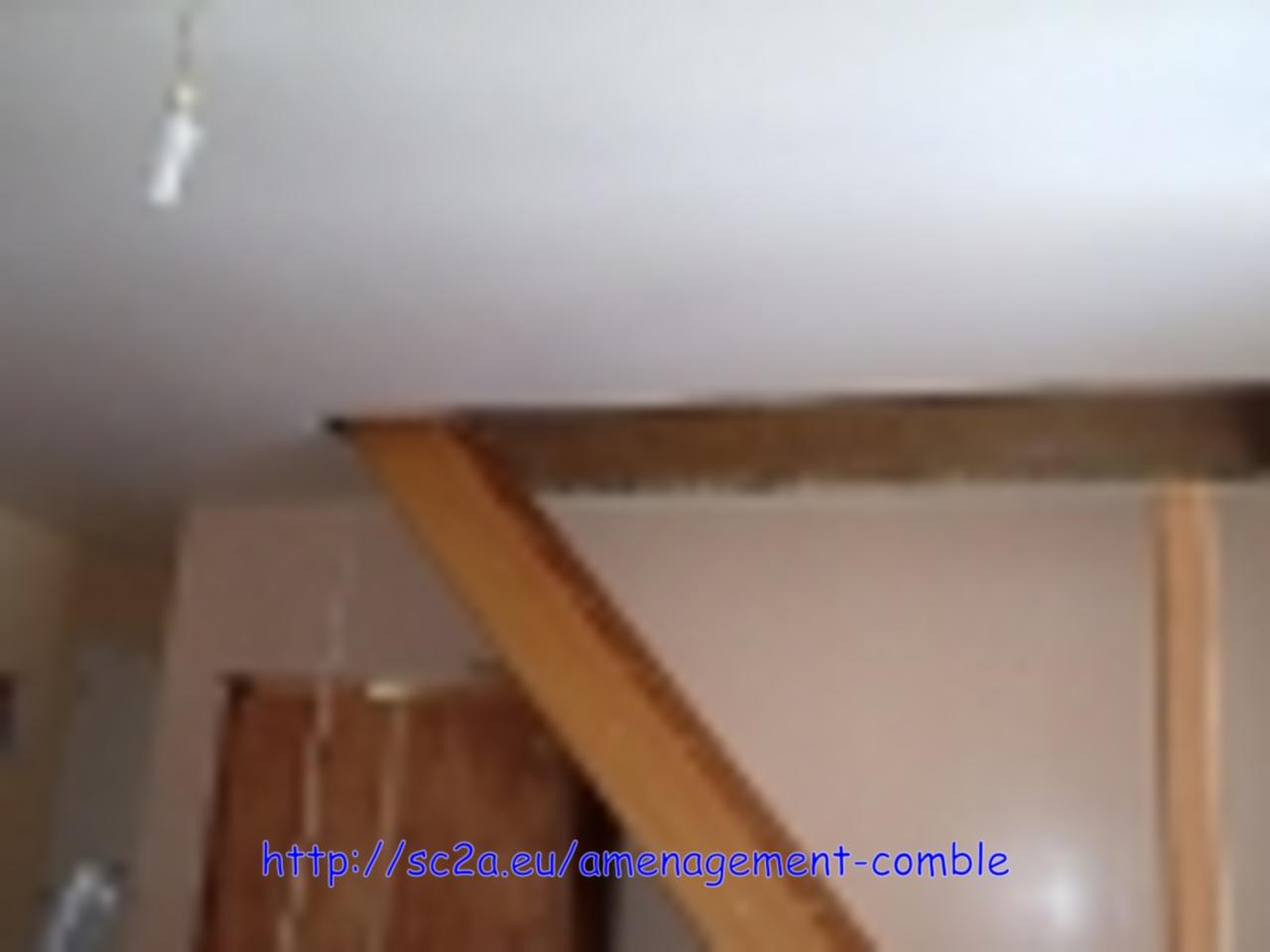 Mise en place provisoire de l\'escalier - vue d\'ensemble 1