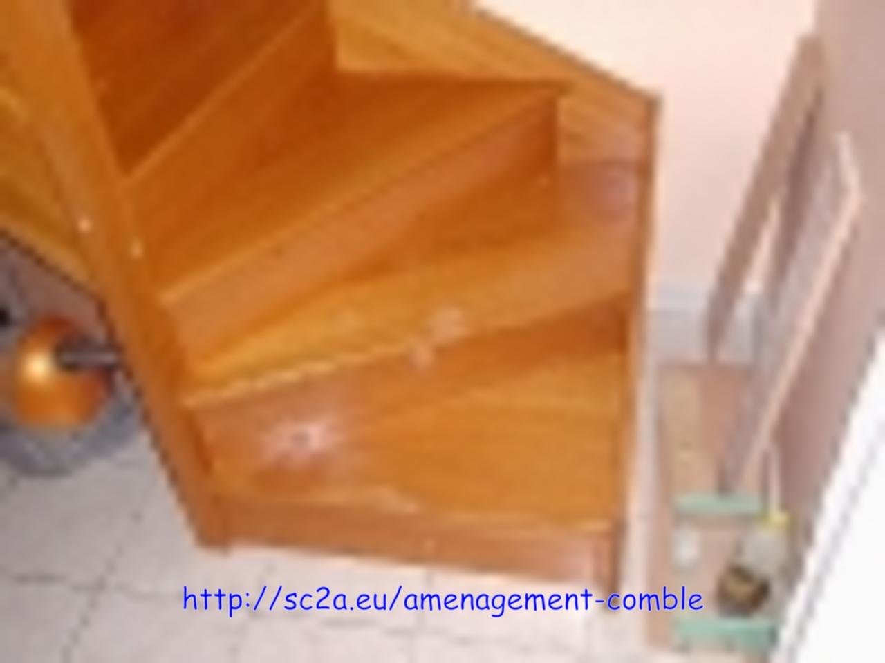 escalier installé provisoirement - escalier en kit 1