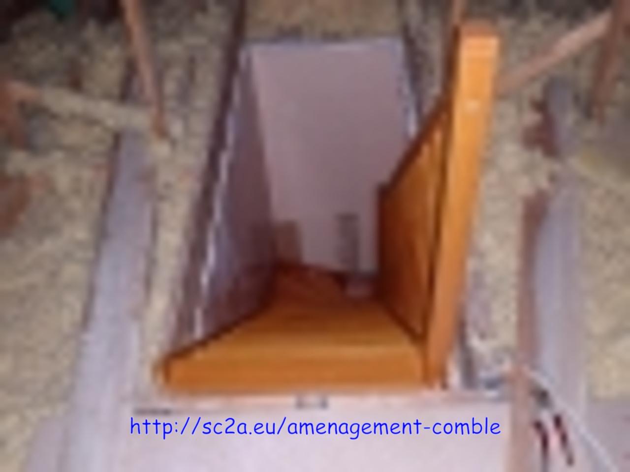 escalier installé provisoirement - escalier en kit - poser son escalier tout seul