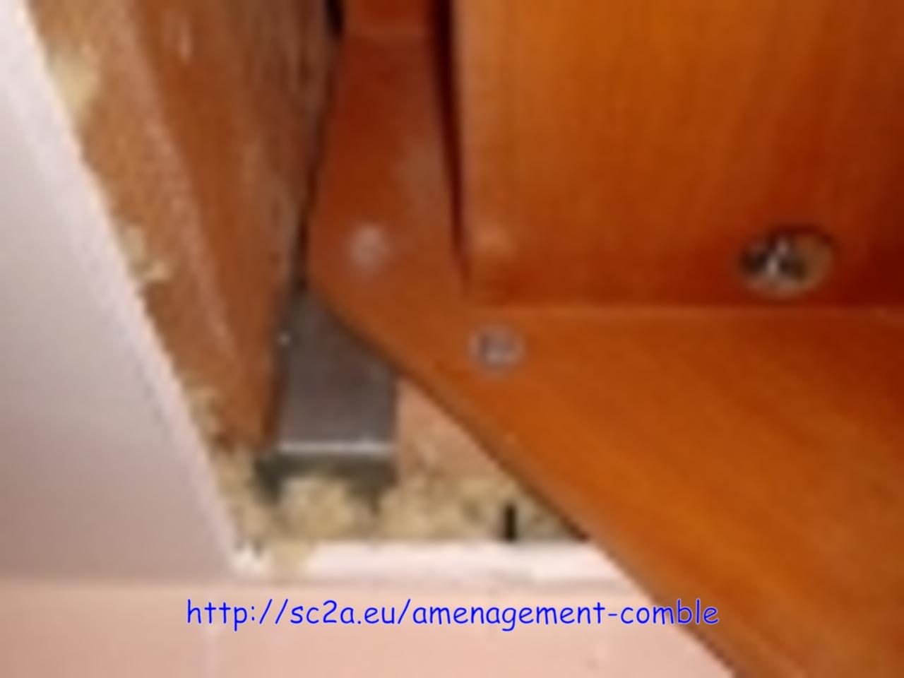 escalier installé provisoirement - vue de la pose sur le bord de la trémie