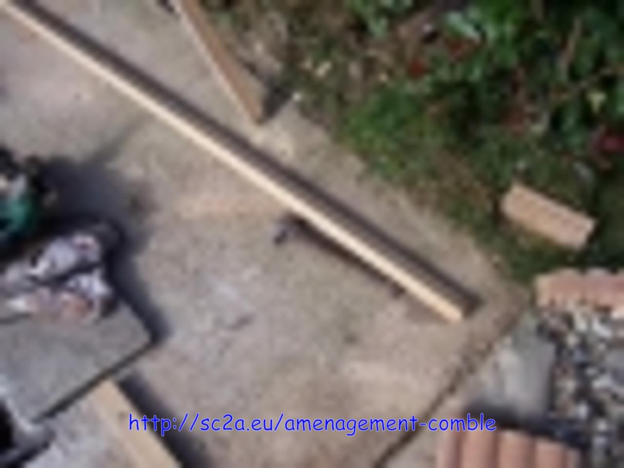 Pose lambourdes sous lames pin autoclave