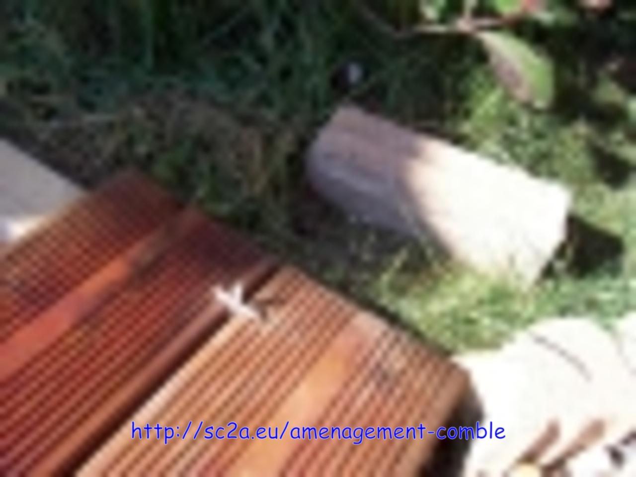 Pose  lames pin autoclave sur les lambourdes 2