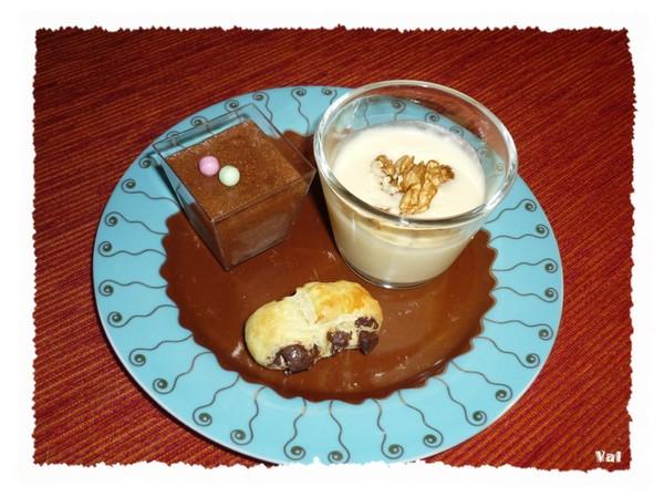 Assiette de desserts gourmands