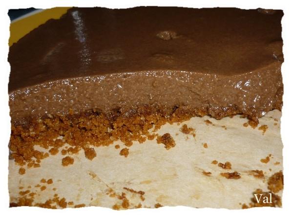 Bavarois au chocolat et biscuit spéculos