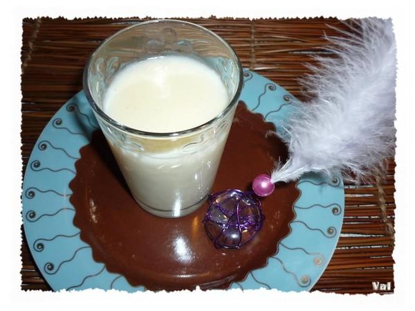 Verrine de crème à la vanille