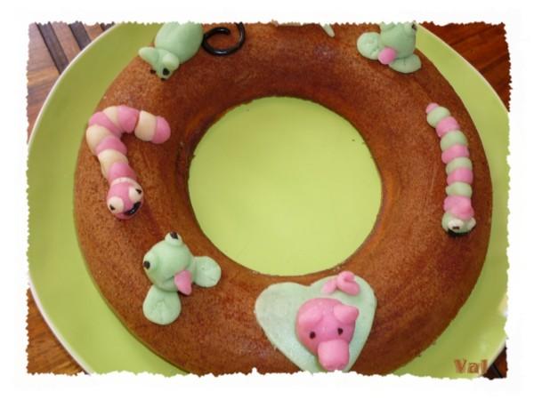 Gâteau en pâte d'amande « les animaux »
