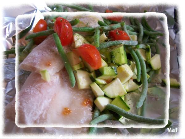 Filets de colin aux petits légumes