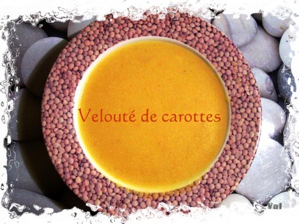 Potage velouté de carottes