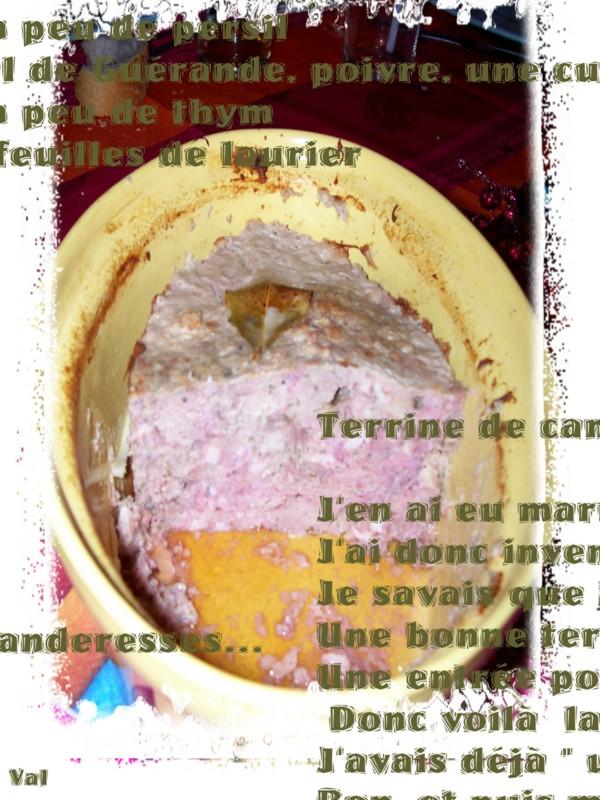 Terrine de campagne aux pistaches