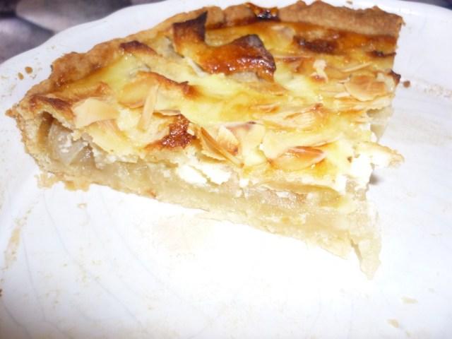 Tarte amandine pomme compote