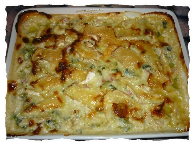 Tartiflette courgettes Coulommiers