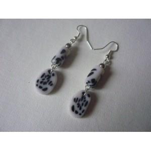 Boucles d'oreilles Dalmatien BO4